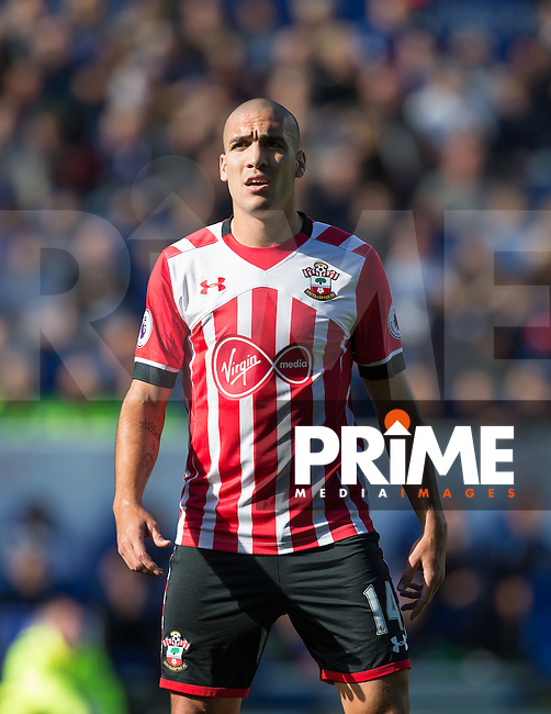 Oriol Romeu of Southampton during the Premier League match between Leicester City and Southampton at the King Power Stadium, Leicester, England on 2 October 2016. Photo by Andy Rowland.