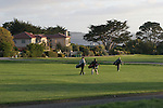 Golfers at Pebble Beach