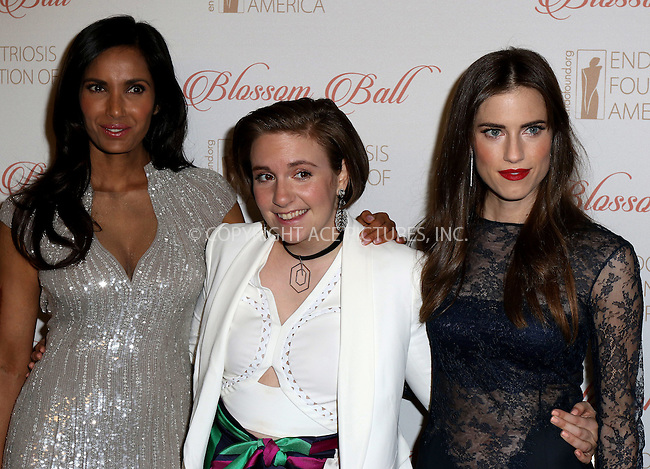 WWW.ACEPIXS.COM<br /> <br /> April 19 2016, New York City<br /> <br /> Padma Lakshmi, Lena Dunham and Allison Williams arriving at the 8th Annual Blossom Ball at Pier Sixty at Chelsea Piers on April 19, 2016 in New York City.<br /> <br /> By Line: Nancy Rivera/ACE Pictures<br /> <br /> <br /> ACE Pictures, Inc.<br /> tel: 646 769 0430<br /> Email: info@acepixs.com<br /> www.acepixs.com