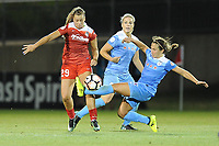 Boyds, MD -Saturday August 26, 2017: Meggie Dougherty Howard, Julie Ertz, Danielle Colaprico  during a regular season National Women's Soccer League (NWSL) match between the Washington Spirit and the Chicago Red Stars at Maureen Hendricks Field, Maryland SoccerPlex.