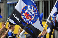 A general view of a Bath flag. Aviva Premiership match, between Bath Rugby and London Welsh on September 13, 2014 at the Recreation Ground in Bath, England. Photo by: Patrick Khachfe / Onside Images