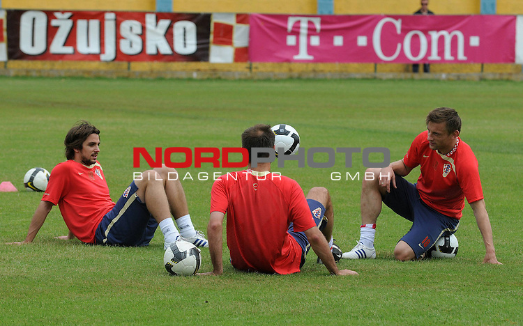 29.05..2009., Rovinj - First day of preparations croatian football national team. 06.06.2009. they are playing qualifying match with Ukraine for World Championship 2010. Niko Kranjcar, Ivica Olic. <br /> Photo: Anto Magzan/ / nph (  nordphoto  )