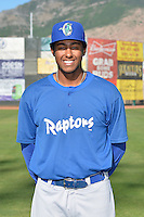 Theo Alexander (25) of the Ogden Raptors poses for a photo during media day on June 14, 2014 at Lindquist Field in Ogden, Utah. (Stephen Smith/Four Seam Images)