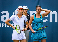 Rosmalen, Netherlands, 13 June, 2019, Tennis, Libema Open, Womans doubles: Lesley Kerkhove (NED) and Bibiane Schoofs (NED) (L)<br /> Photo: Henk Koster/tennisimages.com