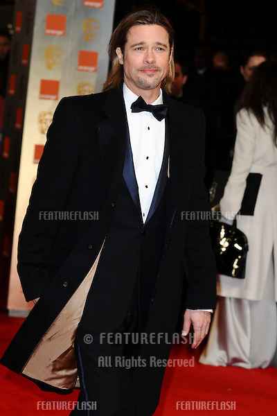 Brad Pitt arriving for the BAFTA Film Awards 2012 at the Royal Opera House, Covent Garden, London. 12/02/2012  Picture by: Steve Vas / Featureflash