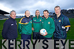 Kerry Senior Football Managment Team Ger O'Keeffe, Alan O'Sullivan, Jack O'Connor Manager, Donie Buckley and Diarmuid Murphy.