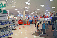 Target, retail, American, US, store, display, shelves, Stacked, Shelves, array of specialty, Clothing,  Products,