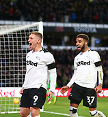 9th February 2019, Pride Park, Derby, England; EFL Championship football, Derby Country versus Hull City; Martyn Waghorn of Derby County celebrates his second goal in the 71st minute that made it 2-0 with Jayden Bogle of Derby County following