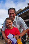 DEL MAR,CA-AUG 17: The winning trainer, Philip D'Amato, after wins the Del Mar handicap at Del Mar Race Track on August 17,2019 in Del Mar,California. Kaz Ishida/Eclipse Sportswire/CSM