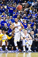 Baltimore, MD - Hofstra Pride guard Juan'ya Green (1) makes a diving save during game against William & Mary Tribe at the CAA Basketball Tournament at the Royal Farms Arena in Baltimore, Maryland on March 6, 2016.  (Photo by Philip Peters/Media Images International)