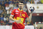 Spain's Alex Dujshebaev during 2018 Men's European Championship Qualification 2 match. November 2,2016. (ALTERPHOTOS/Acero)