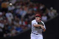 Apr 13, 2007; Phoenix, AZ, USA; Arizona Diamondbacks shortstop (6) Stephen Drew against the Colorado Rockies at Chase Field in Phoenix, AZ. Mandatory Credit: Mark J. Rebilas
