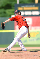 Daniel Bard (31) of the Portland Sea Dogs in action at Hadlock Field in Portland, ME, Sunday August 17, 2008. (Photo by Ken Babbitt / Four Seam Images)