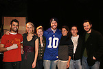 Tom Pelphrey and cast - left to right Shawn Renfro (Director), Katya Campbell, Kate Russell, Tom Pelphrey, Samantha Ivers, Jonathan Karp and Dennis Flanagan (Executive Dir) pose after the Apothecary Theater Company's production of An Evening of Don Nigro on Dec. 14 running until Dec. 20 at Theatre 54, New York City, NY. Tom Pelphrey stars with Kate Russell (was on AMC) in two acts  - 1) Wonders of the Invisible World Revealed and 2) Fair Rosamund and Her Murderer. (Photo by Sue Coflin/Max Photos)
