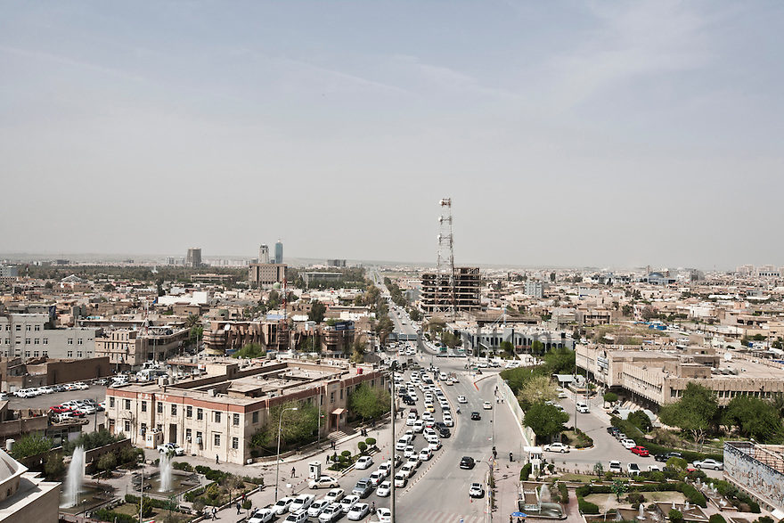 Iraq - Kurdistan - Erbil -   Overview of the city from The Citadel