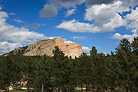 The Crazy Horse Memorial by sculptor Korczak Ziolkowski in Crazy Horse, South Dakota on August 13, 2010.