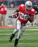 "November 22, 2008. Ohio State running back Chris ""Beanie"" Wells. The Ohio State Buckeyes defeated the Michigan Wolverines 42-7 on November 22, 2008 at Ohio Stadium, Columbus, Ohio."
