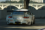 1 September 2007: The Rahal Letterman Racing Porsche 911 GT3 RSR driven by Ralf Kelleners  (DEU) and Tom Milner (USA) at the Detroit Sports Car Challenge presented by Bosch, Detroit, MI