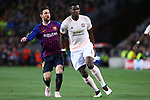 UEFA Champions League 2018/2019.<br /> Quarter-finals 2nd leg.<br /> FC Barcelona vs Manchester United: 3-0.<br /> Lionel Messi vs Paul Pogba.