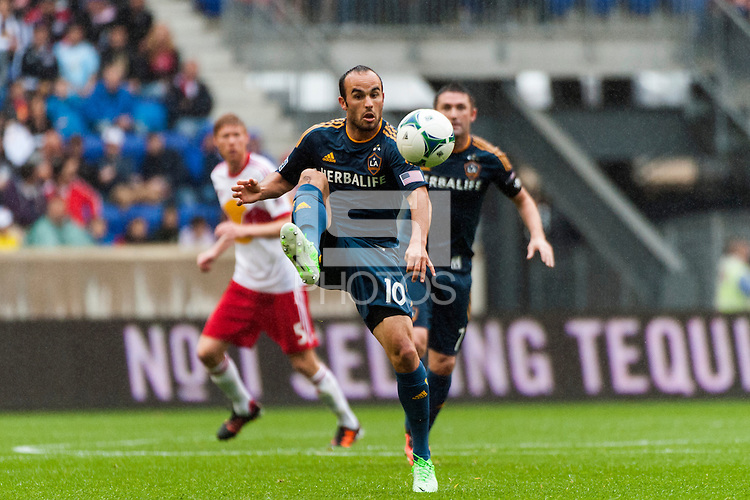 Landon Donovan (10) of the Los Angeles Galaxy. The New York Red Bulls defeated the Los Angeles Galaxy 1-0 during a Major League Soccer (MLS) match at Red Bull Arena in Harrison, NJ, on May 19, 2013.