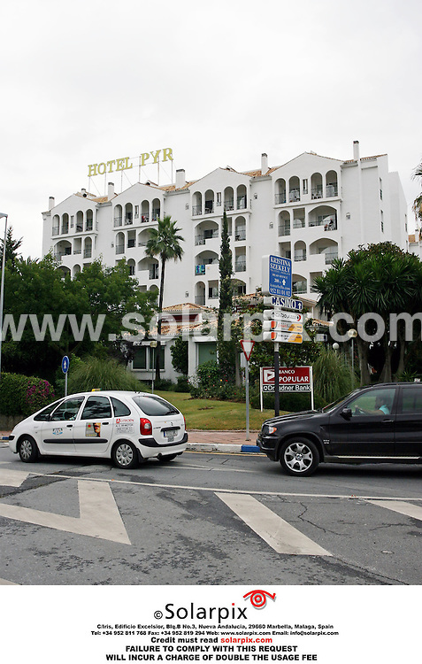 PICTURES BY SOLARPIX.COM.G.V of the Hotel PYR where Jade Goody's toy boy lover  Jack Tweedy spent the bank holiday weekend in Marbella Spain..JOB REF AB1- 2443 -1.6.06