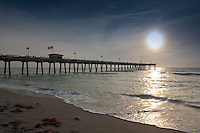 Sunset over Gulf of Mexico and Venice Fishing Pier at 67-acre Brohard Park, Venice, Florida, USA. Photo by Debi Pittman Wilkey