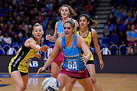 Steel's Te Paea Selby-Rickit and Pulse&rsquo; Katrina Grant in action during the ANZ Premiership - Pulse v Steel at Te Rauparaha Arena, Porirua, New Zealand on Wednesday 30 May 2018.<br /> Photo by Masanori Udagawa. <br /> www.photowellington.photoshelter.com
