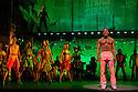 "London, UK. 21/07/2011.  ""FELA!"" opens at Sadler's Wells. FELA! is a provocative hybrid of dance, theatre and music exploring the extravagant world of Afrobeat legend Fela Kuti. Sahr Ngaujah as Fela. Photo credit should read Jane Hobson"