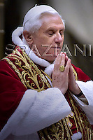 Feast of candles,Pope Benedict XVI in St. Peter's Basilica, at the Vatican.February 2, 2007