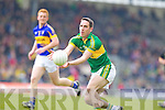 Declan O'Sullivan, Kerry in action against \t0\ in the first round of the Munster Football Championship at Fitzgerald Stadium on Sunday.