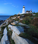 Pemaquid Point Lighthouse At Sunrise, Bristol, Maine