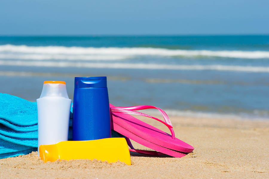 Various ''male'' and ''female'' like bottles of sun screen