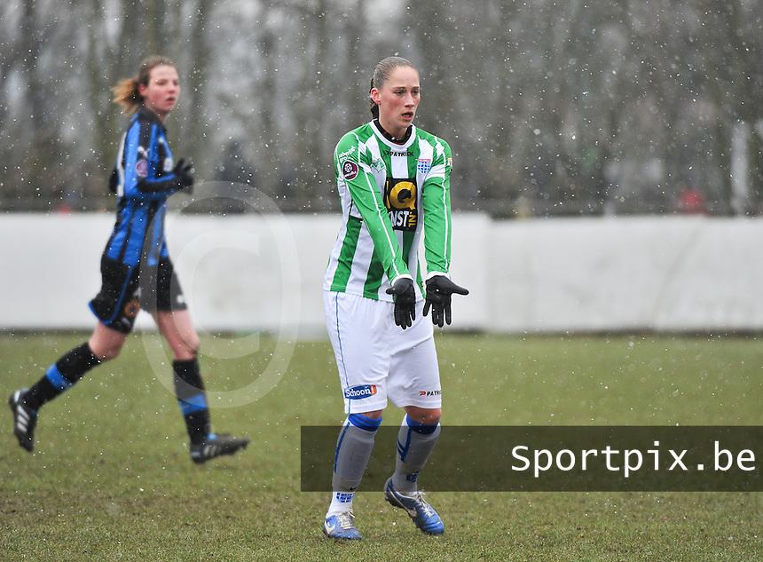 Club Brugge Dames - PEC Zwolle : Judith Frijlink .foto DAVID CATRY / Vrouwenteam.be