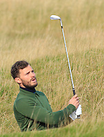 Jamie Dornan (AM) on the 11th fairway during Round 3 of the 2015 Alfred Dunhill Links Championship at Kingsbarns in Scotland on 3/10/15.<br /> Picture: Thos Caffrey | Golffile