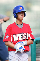 Peoria Chiefs Hak-Ju Lee during the Midwest League All Star Game at Parkview Field in Fort Wayne, IN. June 22, 2010. Photo By Chris Proctor/Four Seam Images