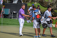 Tyrrell Hatton (ENG) shakes hands following round 4 of the Arnold Palmer Invitational at Bay Hill Golf Club, Bay Hill, Florida. 3/10/2019.<br /> Picture: Golffile | Ken Murray<br /> <br /> <br /> All photo usage must carry mandatory copyright credit (© Golffile | Ken Murray)