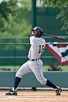 Edgar Corcino of the Gulf Coast League Tigers during the game against the Gulf Coast League Braves July 3 2010 at the Disney Wide World of Sports in Orlando, Florida.  Photo By Scott Jontes/Four Seam Images