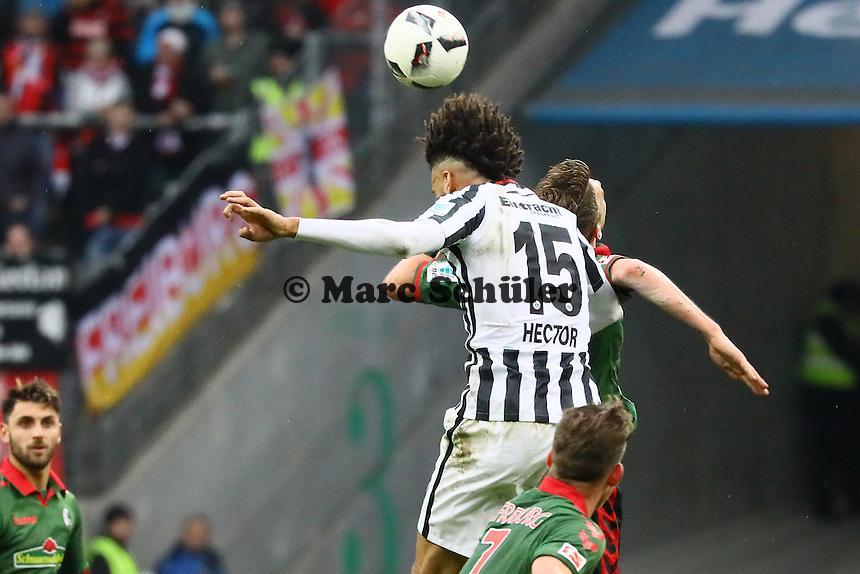 Kopfball Michael Hector (Eintracht Frankfurt) - 05.03.2017: Eintracht Frankfurt vs. SC Freiburg, Commerzbank Arena