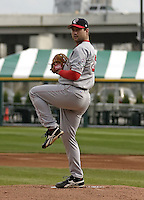 May 3, 2004:  Pitcher Jamie Brown of the Pawtucket Red Sox, Triple-A International League affiliate of the Boston Red Sox, during a game at Dunn Tire Park in Buffalo, NY.  Photo by:  Mike Janes/Four Seam Images