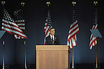 Democrat Barack Obama addresses a crowd of an estimated 250,000 supporters as the 44th U.S. President Elect on Election Night 2008 in Grant Park in Chicago, Illinois on November 4, 2008.