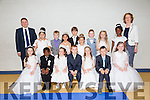 COMMUNION: The pupils of Mr Tommy Lyons class of Moyderwell NS who made their First Holy Communion at St John's Church, Tralee on Saturday. Pictured here with principal Moria Quinlan