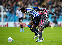 Leeds United's Edward Nketiah competing with Sheffield Wednesday's Dominic Iorfa (left) <br /> <br /> Photographer Andrew Kearns/CameraSport<br /> <br /> The EFL Sky Bet Championship - Sheffield Wednesday v Leeds United - Saturday 26th October 2019 - Hillsborough - Sheffield<br /> <br /> World Copyright © 2019 CameraSport. All rights reserved. 43 Linden Ave. Countesthorpe. Leicester. England. LE8 5PG - Tel: +44 (0) 116 277 4147 - admin@camerasport.com - www.camerasport.com
