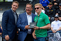 Verizon IndyCar Series<br /> Indianapolis 500 Drivers Meeting<br /> Indianapolis Motor Speedway, Indianapolis, IN USA<br /> Saturday 27 May 2017<br /> Starter's ring presentation: Spencer Pigot, Juncos Racing Chevrolet<br /> World Copyright: F. Peirce Williams