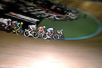 CALI – COLOMBIA – 18-02-2017: Prueba Omnium, en el Velodromo Alcides Nieto Patiño, sede de la III Valida de la Copa Mundo UCI de Pista de Cali 2017. Omnium Race, at the Alcides Nieto Patiño Velodrome, home of the III Valid of the World Cup UCI de Cali Track 2017. Photo: VizzorImage / Luis Ramirez / Staff.