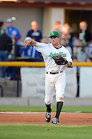 Clinton LumberKings third baseman Patrick Kivlehan #47 during a game against the Burlington Bees on May 23, 2013 at Ashford University Field in Clinton, Iowa.  Clinton defeated Burlington 6-5.  (Mike Janes/Four Seam Images)