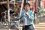 Sum Thida, 12, leaves school in Soepreng, a village in the Kampot region of Cambodia.