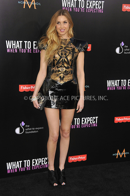 WWW.ACEPIXS.COM . . . . .  ....May 14 2012, LA....Whitney Port arriving at the Los Angeles premiere of 'What To Expect When You're Expecting' at Grauman's Chinese Theatre on May 14, 2012 in Hollywood, California. ....Please byline: PETER WEST - ACE PICTURES.... *** ***..Ace Pictures, Inc:  ..Philip Vaughan (212) 243-8787 or (646) 769 0430..e-mail: info@acepixs.com..web: http://www.acepixs.com