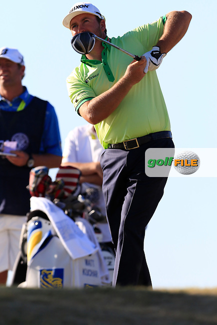 Graeme McDOWELL (NIR) tees off the 16th tee during Friday's Round 2 of the 2015 U.S. Open 115th National Championship held at Chambers Bay, Seattle, Washington, USA. 6/20/2015.<br /> Picture: Golffile | Eoin Clarke<br /> <br /> <br /> <br /> <br /> All photo usage must carry mandatory copyright credit (&copy; Golffile | Eoin Clarke)