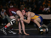 Ryan Black (II) and Ryan Leblanc (III) square off in the NY State Division Two finals at the 160 weight class during the NY State Wrestling Championship finals at Blue Cross Arena on March 9, 2009 in Rochester, New York.  (Copyright Mike Janes Photography)