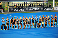 The Black Sticks line up before the women's match between NZ Black Sticks and Australia Hockeyroos at the 2017 Hawkes Bay Cup tournament at Hawkes Bay Sports Park in Hastings, New Zealand on Thursday, 6 April 2017. Photo: Dave Lintott / lintottphoto.co.nz